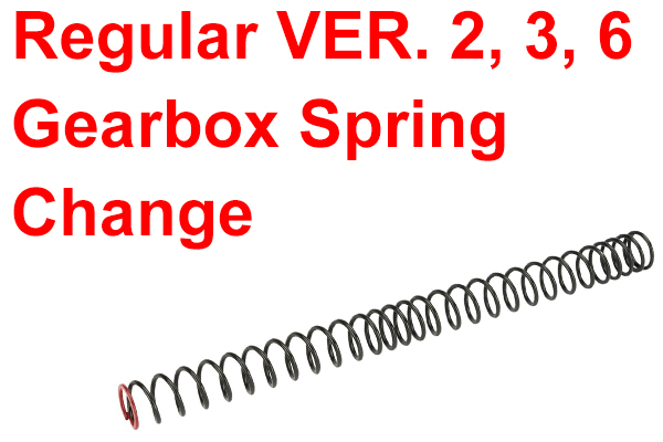 REG VER2, 3, 6 Gearbox Spring Change Service (Spring Included
